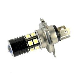 New H4 SMD5050 12 LED Car Head Light Bulb White Q5 Lamp DC 12V-30V