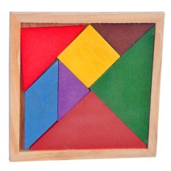 New Wooden Tangram Children Puzzle Toys DIY Game Building Blocks Intelligent Toy Kid's Gift Baby Educational Toys (Intl)