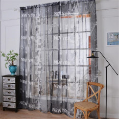 Willow Printed Tulle Voile Door Window Curtain Sheer Drape Panel 200 x 270CM (Green) - IntlPHP1082. PHP 1.091