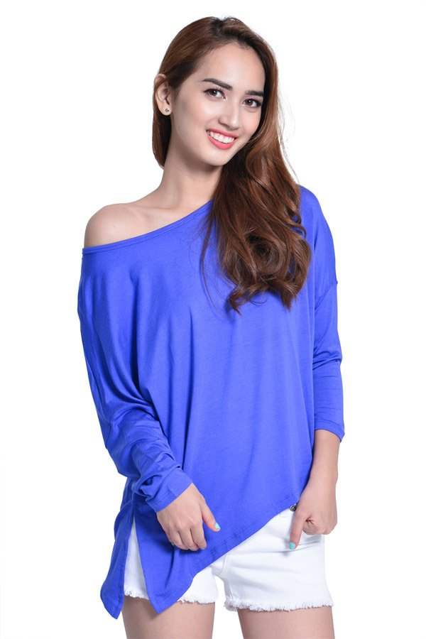 Next 92-006 Loose Uneven Cut Top (Royal Blue) product preview, discount at cheapest price