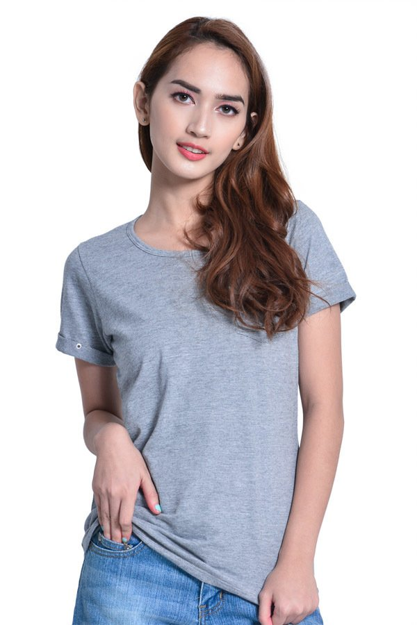 Next 92-007 Semi-Fitted Top (Grey) - thumbnail