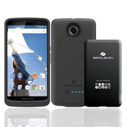 ZeroLemon Nexus 6 3500mAh Slim Power Battery Case