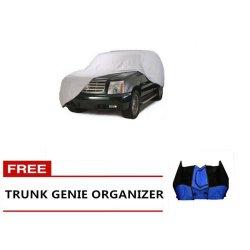 Nylon Car Cover for SUVs (Grey) with Free Trunk Genie Organizer
