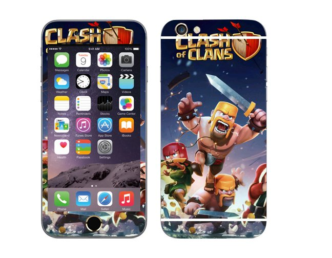 Odd Stickers Skin Cover Clash of Clans Pattern 1 for iPhone6