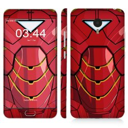 Oddstickers Iron Body 1 Phone Skin for Meizu M2 Note (Red)