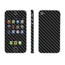 OddStickers Phone Skin Cover for Apple iPhone 4s (Carbon Fiber Black)