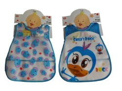 Ohana Waterproof Animal-Pattern Bibs set of 2 (Blue)