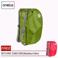 Oneline Xy14b104 Outdoor Travel Folding Backpack Mass Sports Men Running Backpack Woman Light Travel Mountaineering Bag(green)/buy 1 Take 1(random Color) By Oneline.