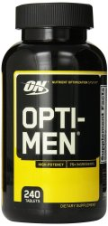 Optimum Nutrition Opti-Men Supplement Bottle of 240 Tablet