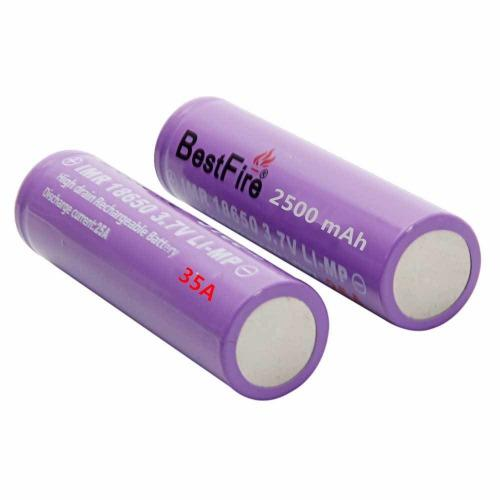 Original BestFire IMR18650 2500mAh 35A Rechargeable Li-Ion Battery Set Of 2
