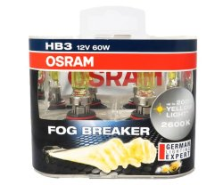 Osram Fog Breaker HB3/9005 Headlight Replacement Bulb Set of 2