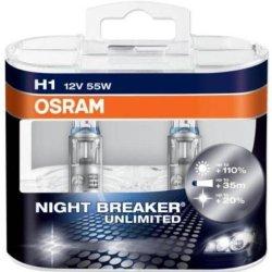 Osram H1 Night Breaker Unlimited Headlamp Bulbs