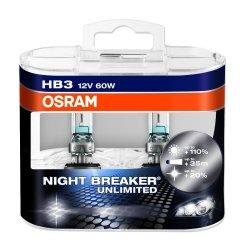 Osram HB3 (9005) Night Breaker Unlimited Headlamp Bulbs
