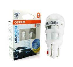 Osram T10 / W5W Cool White LED Parking Lamp Bulb Set of 2