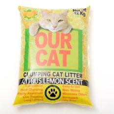 Our Cat Clumping Cat Litter Citrus Lemon 12kg