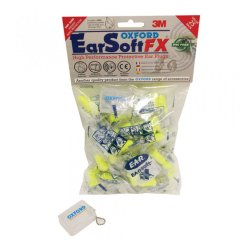 Oxford OF536 Earsoft FX Ear plugs 25prs SNR39 (Hi-Vis Yellow)