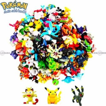 Pack of 144 Random Assorted Mini Pokemon Collectible Figurines
