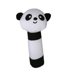 Panda Shape Cloth Fabric Squeaker Bar Sound Baby Play Toys