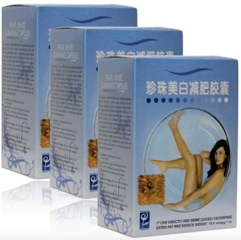 Pearl White Slimming Capsule 400mg Set of 3