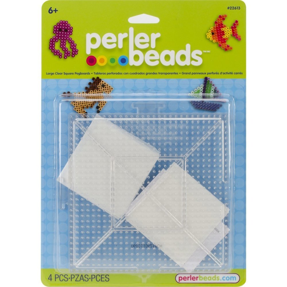 Perler Beads Clear Square Pegboards