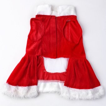 Pet Puppy Dog Christmas Clothes Santa Claus Costume Outwear Coat Apparel Hoodie Red M (Intl)