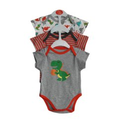 PJs Dino Romper Set of 3 (Multicolor)