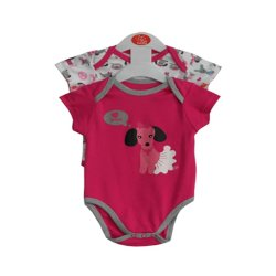 PJs Poodle Romper Set of 2 (Pink)