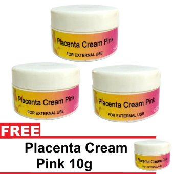 Placenta Cream Pink 10g Set of 3 With Free Placenta Cream Pink 10g