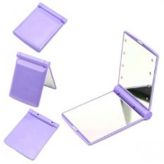 Pocket Makeup Mirror With LED Light (Purple) Philippines
