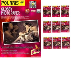 Polaris 240GSM A4 Glossy Photo Paper Set of 10 (White)
