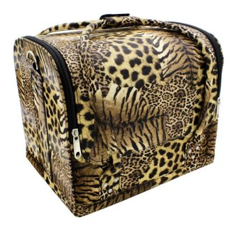 Pop Art Professional Make-up Bag Case Arabella (Leopard)