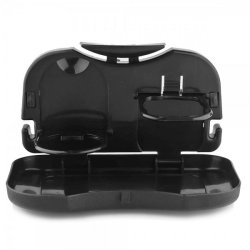 Portable Car Tray and Cup Holder (Black)