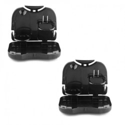 Portable Car Tray and Cup Holder Set of 2 (Black)