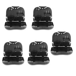 Portable Car Tray and Cup Holder Set of 5 (Black)