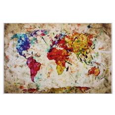 Buy sell cheapest world balance urban best quality product deals poster print entitled world map urban watercolor intl gumiabroncs Images