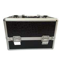 Professional Aluminum Makeup Case (Black Crocodile Grain) Philippines