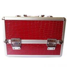 Professional Aluminum Makeup Case (Red Crocodile Grain) Philippines