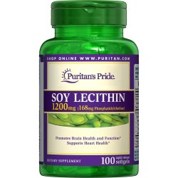 Puritan's Pride Soy Lecithin 1200mg, 100 Softgels