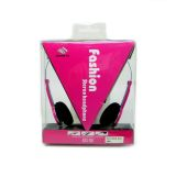 QHS-901 Fashion Stereo Headphone (Pink) - thumbnail 2