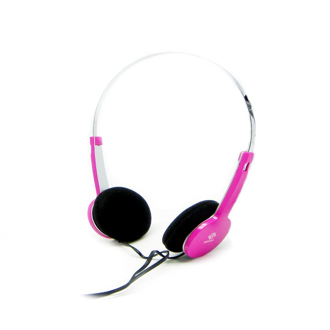 QHS-901 Fashion Stereo Headphone (Pink) - thumbnail