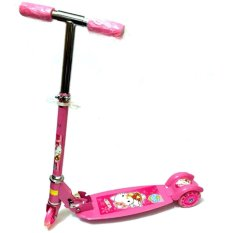 Quality Ride-On Push Scooter For Kids With Laser Wheel (pink) By Xzycollection.