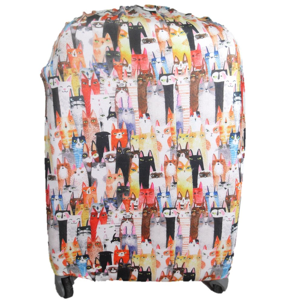 "Raffles Summer Fun Luggage Cover  for 24"" Luggage (White Cats)"