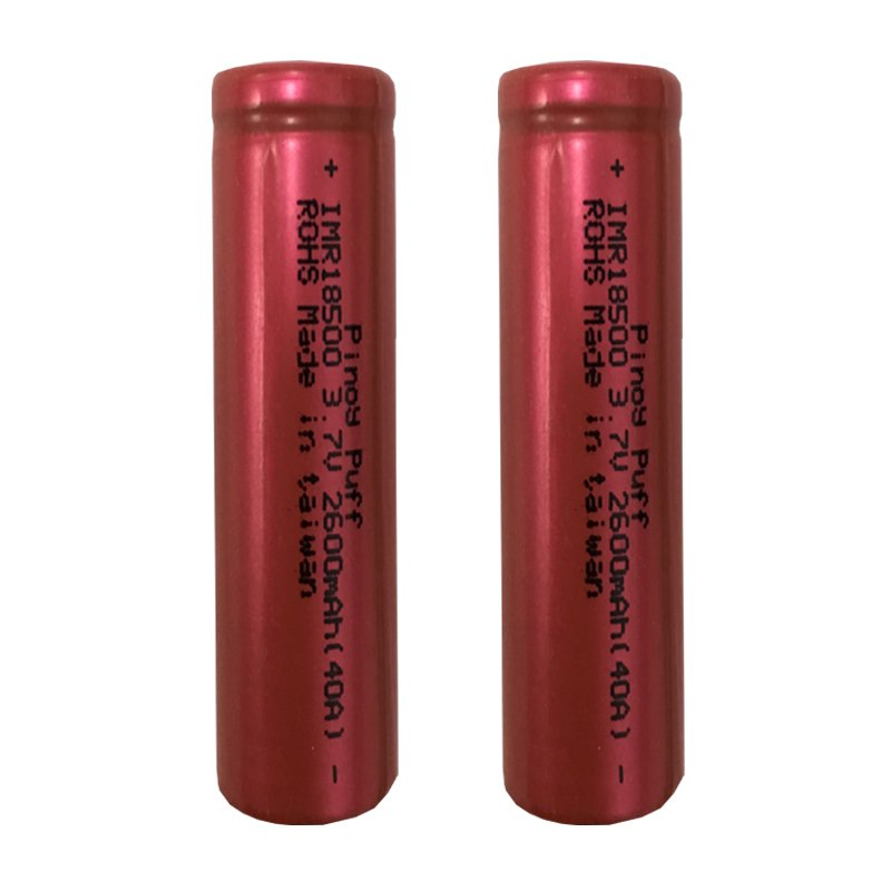 Rechargeable IMR 18500 3.7V Li-Ion 2600mAh 40A Battery Set of 2 product preview, discount at cheapest price