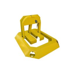 Reflective Strong Stainless Car Safety Parking Space Lock (Yellow)