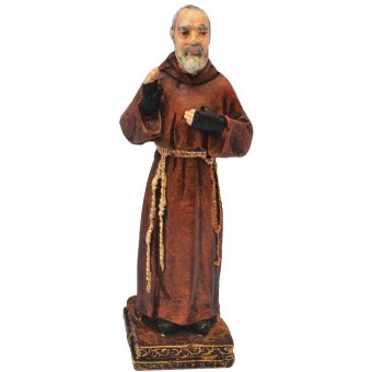 Religious Item Padre St. Pio of Pietrelcina 10 CM Pocket Size statue / figurine (Made of Fiberglass Resin) by Everything About Santa (Christmas decoration and gift suggestion)