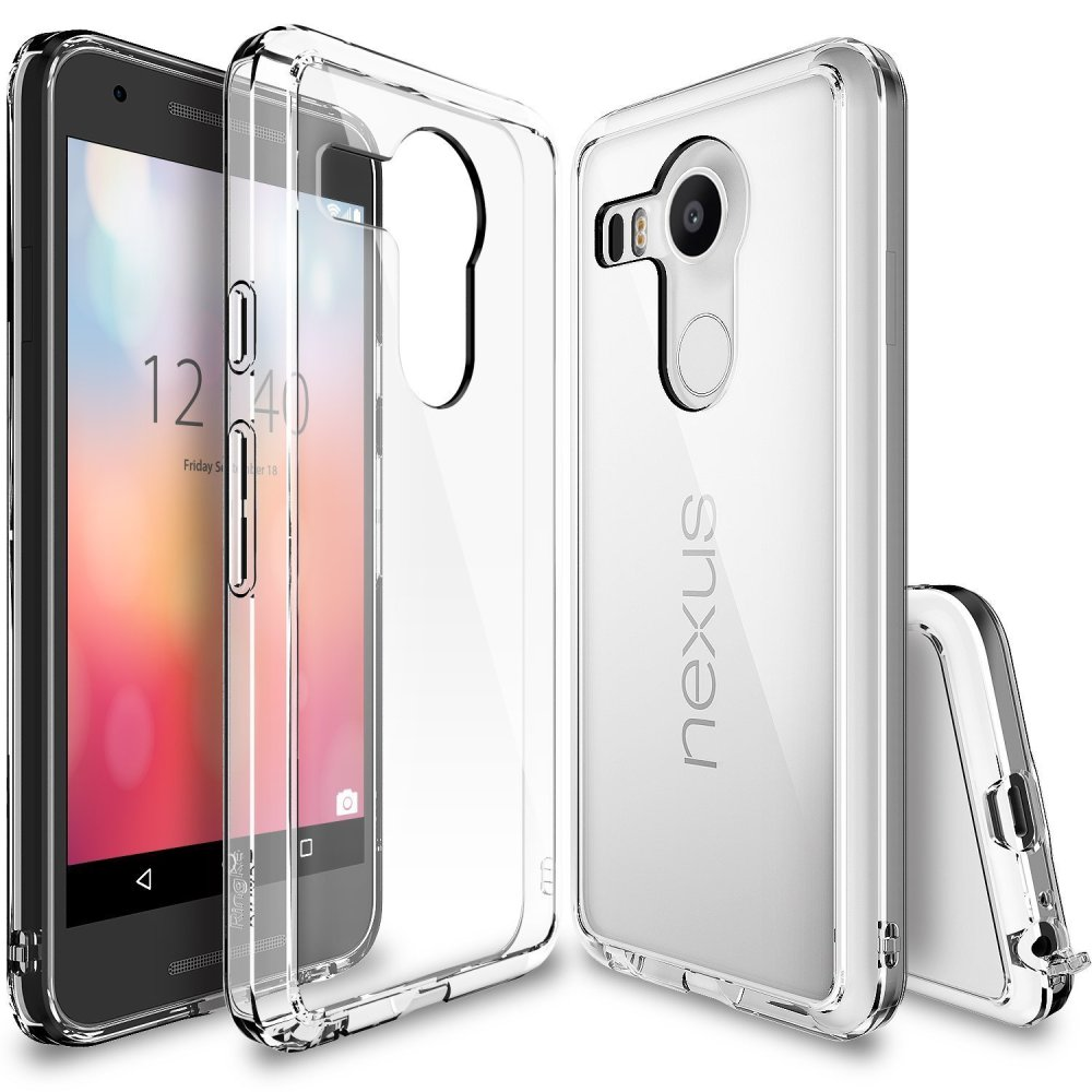 Ringke Fusion Premium Shock Absorption Bumper Hard Case for Google Nexus 5X 2015 (Crystal View)