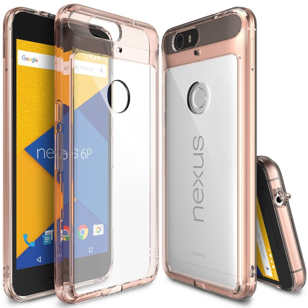Ringke Fusion Shock Absorption Bumper Hybrid TPU Case for Google Nexus 6P (Rose Gold)