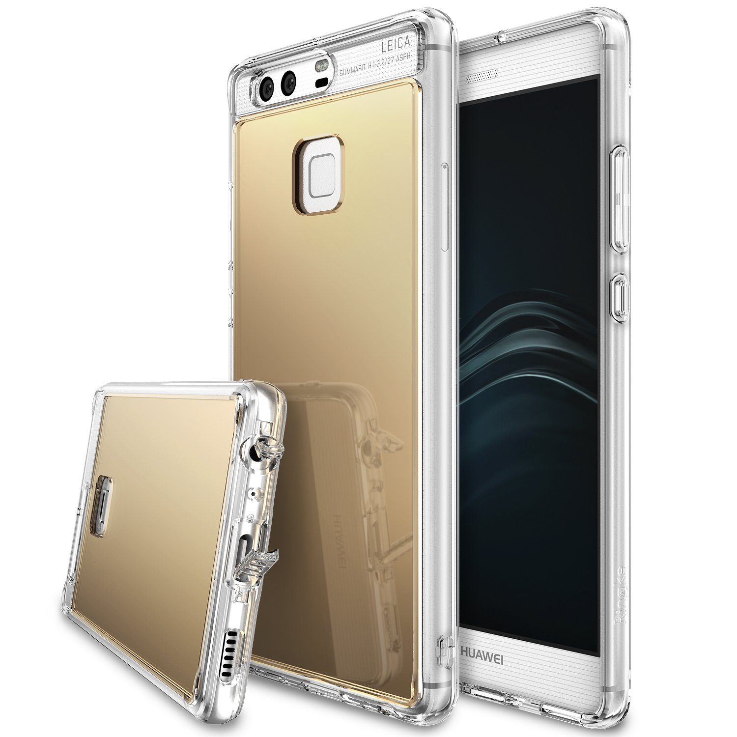 Ringke Mirror PU Cover Case for Huawei P9 (Royal Gold) product preview, discount at cheapest price