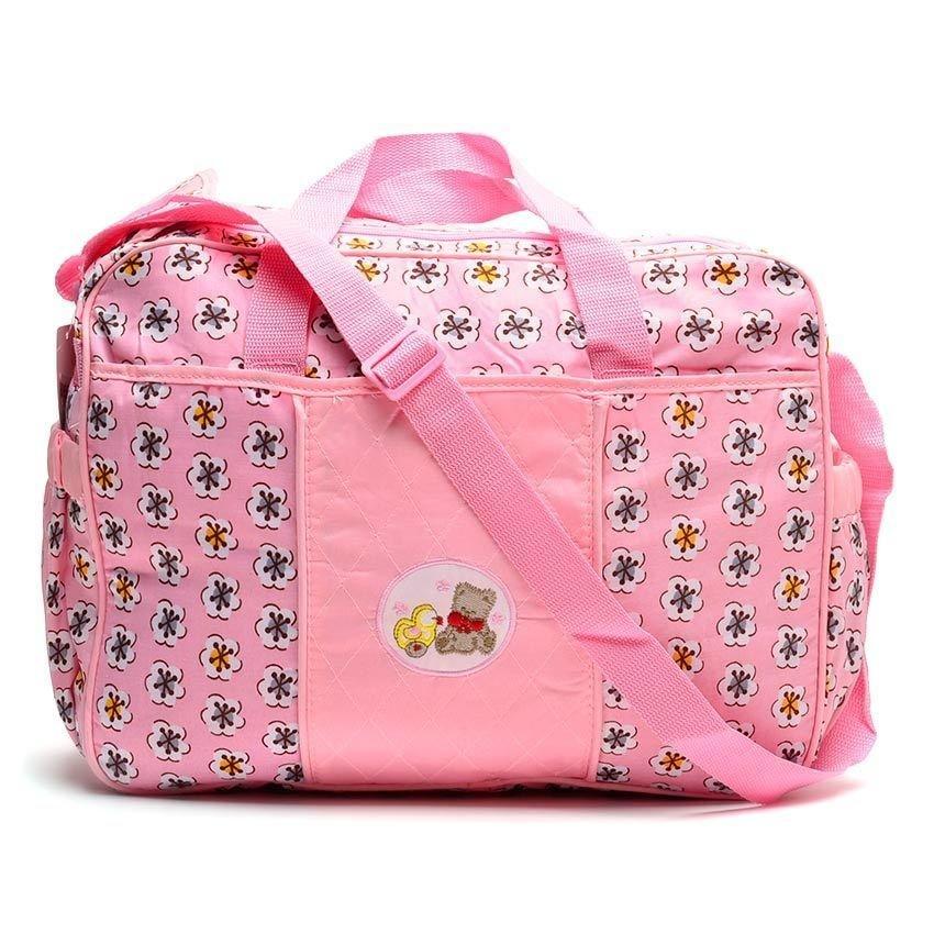 Royal Baby Flower Print Nursery Bag (Pink)