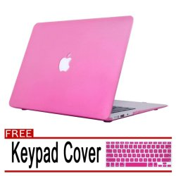 "Rubberized Protective Tablet Case Cover For Apple Macbook Air 11.6"" (blush pink) with Free Keypad Cover / Protector (blush pink)"